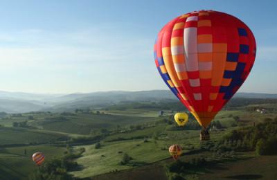 Hot air balloon in Chianti