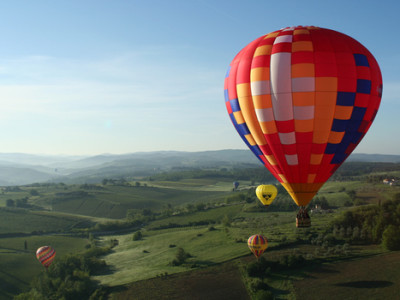 Hot air balloon in Chianti
